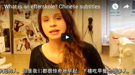 What is an efterskole - Chinese subtitles